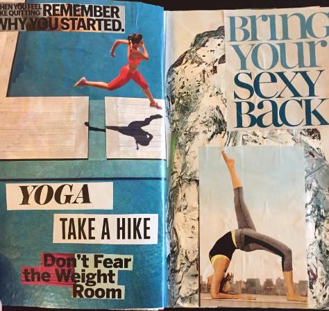 yoga vision board